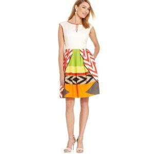 Ellen Tracy Tribal Print Dress